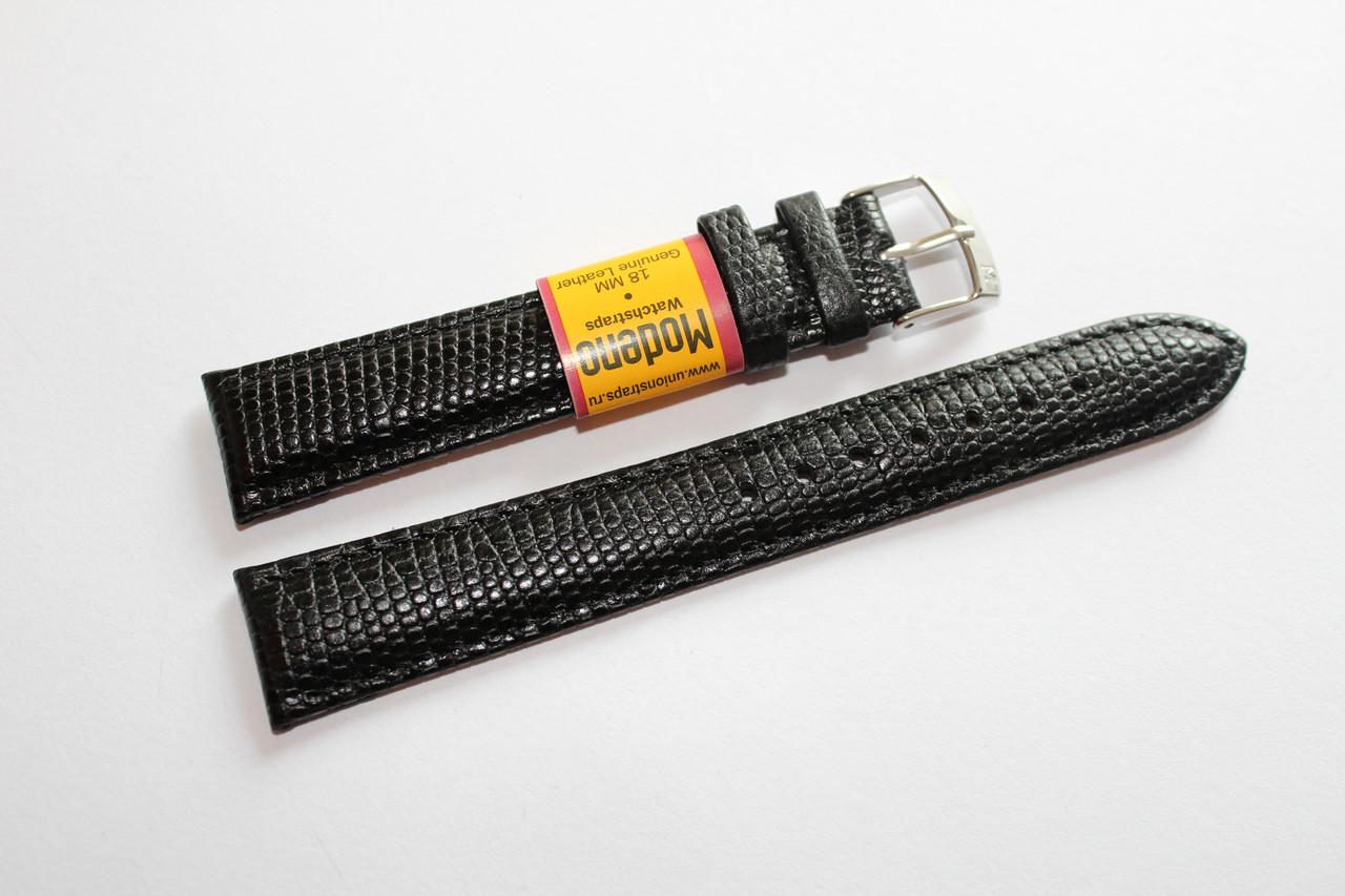 Ремешок для часов Modeno-кожаный ремень для часов черного цвета 18 мм.