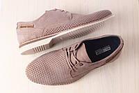 Летние мужские туфли перфорированные