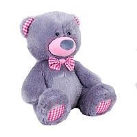 Детская мягкая игрушка, плюшевый мишка Бублик,серый