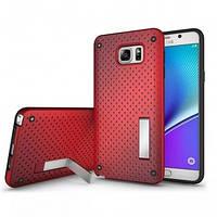 Чехол Dot 2 in 1 с подставкой для Samsung Galaxy Note 5 красный