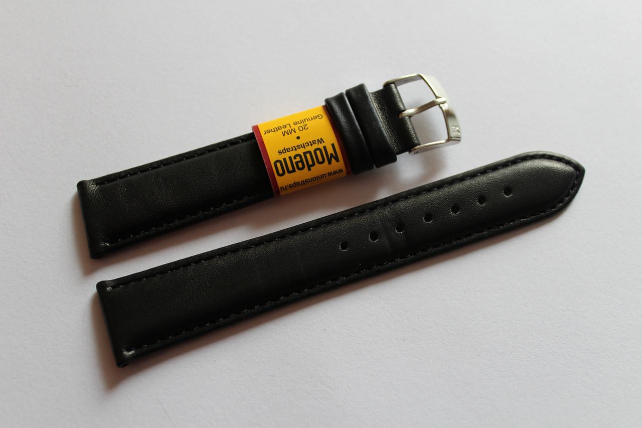 Ремешок для часов Modeno-кожаный ремень для часов черного цвета 20 мм.