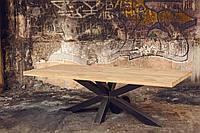 Стол дубовый Leipzig+XX, мебель Loft, дизайнерская мебель из натурального дуба в стиле Лофт
