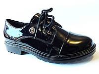 Модные туфли-ботинки лакированные  р. 36-40