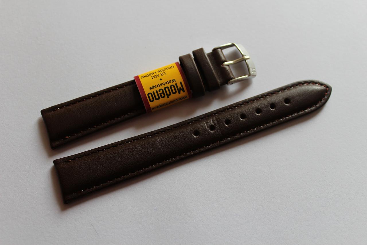 Ремешок для часов Modeno-кожаный ремень для часов коричневого цвета 18 мм.