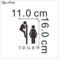 Наклейка WC туалет 3