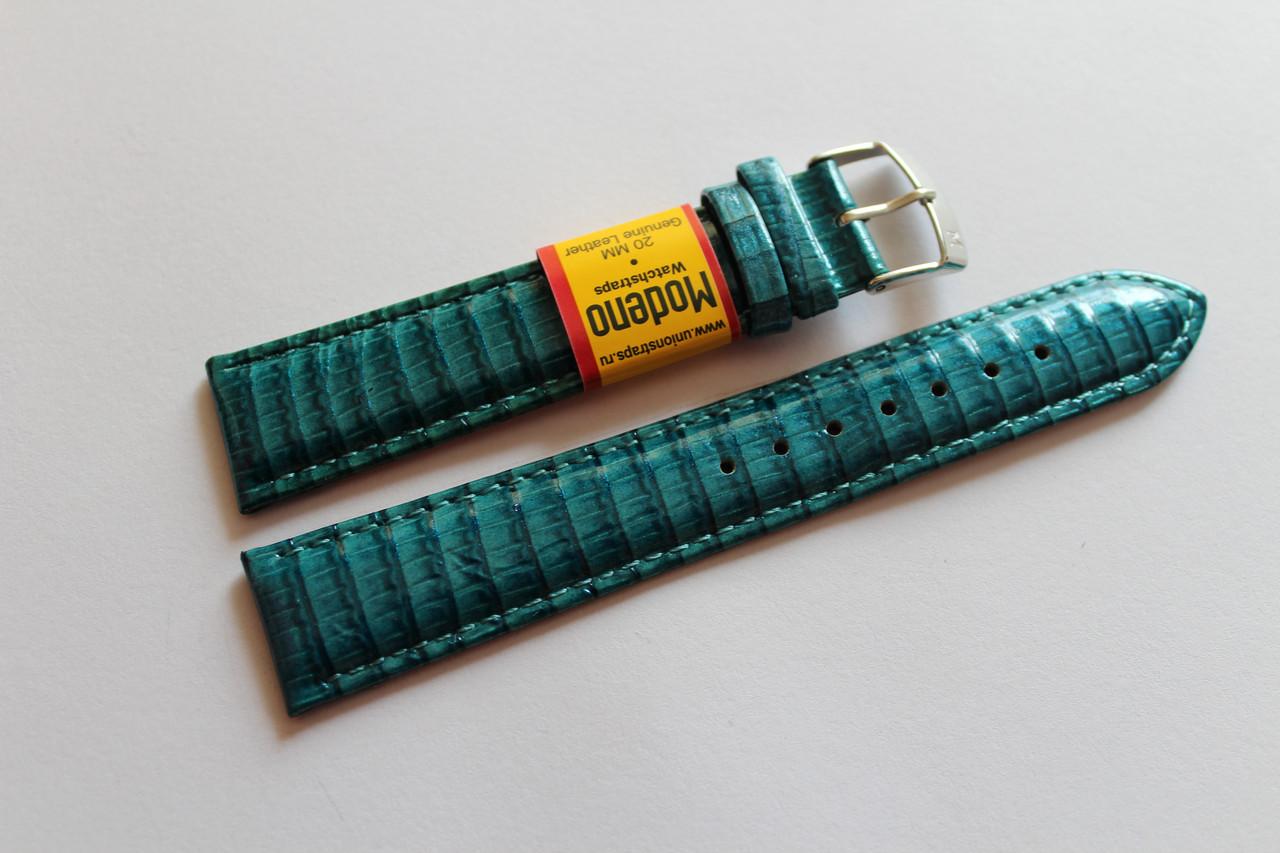 Ремешок для часов Modeno-кожаный ремень для часов бирюзового  цвета 20 мм.