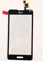 Тачскрин / сенсор (сенсорное стекло) для LG Optimus F6 D500 | D505 | MS500 (черный цвет), фото 1