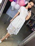 Женское гипюровое  платье АП-124