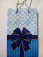 Пакет подарочный бумажный малый 11х18х6( 21-017)