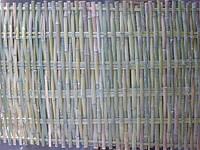 Бамбуковый забор без окантовки, зеленый, 2х1,2м
