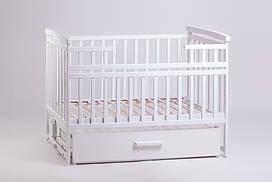Детская кровать-трансформер с ящиком белого цвета от ТМ Дитячий сон