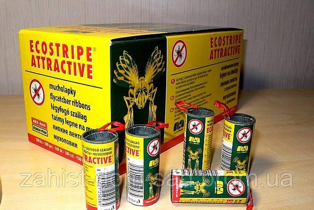 Липкая лента от мух Ecostripe atractive