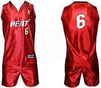 Форма баскетбольная юниорская NBA HEAT с номером 6 CO-0038-12. Распродажа!