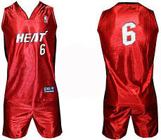 Форма баскетбольная юниорская NBA HEAT. Акционная цена размер ХЛ. Распродажа!