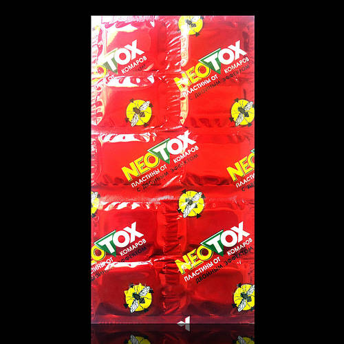 Неотокс Neotox пластины универсальные от комаров и мух