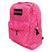 Рюкзак с карманом JO Ситец розовый 42x30x13 см 9007-3