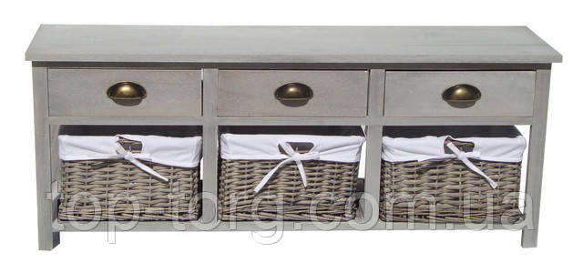 Новинки! Комоды с плетеными ящичками и корзинками в разделе садово-дачной мебели