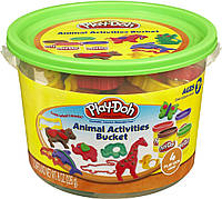Набор пластилина Play-Doh Мини ведерко Зоопарк (23414-23413)