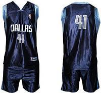 Форма баскетбольная юниорская NBA DALLAS. Акционная цена размер М, L Распродажа!