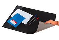 Подкладка для письма двухслойная с карманом черная 652х512 мм