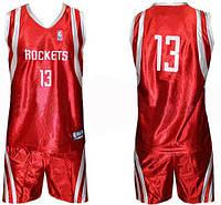 Форма баскетбольная юниорская NBA ROCKETS с номером 13 CO-0038-7. Распродажа!