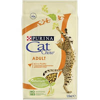 Корм для взрослых кошек (курица и индейка) Cat Chow Adult, 15 кг