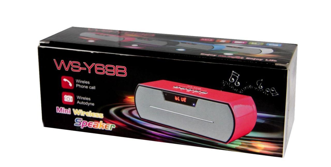 Bluetooth колонка SPS WS Y69+BT. Портативная mp3 колонка. USB, CardReader, pадио.