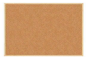 Доска пробковая BUROMAX 90х120см деревянная рамка