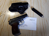 Пистолет под патрон флобера ПМФ-1 с удлинителем ствола в виде глушителя Б/У