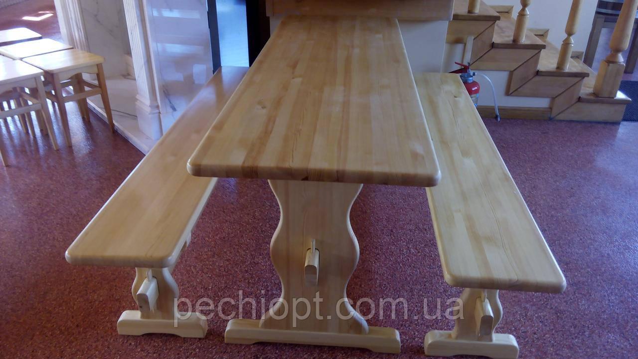 Набор деревянной мебели стол и лавочки