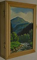 Ключниця - картина  дерев'яна - ручна робота .