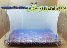 Манеж детский с мелкой сеткой Kinderbox Аквариум