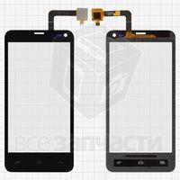 Тачскрин (сенсор) для мобильного телефона Fly IQ4416, черный