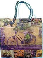 Пакет подарочный бумажный крафт чашка 16х16х7 (22-012)