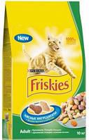 Корм для котов Friskies (Фрискис ) С мясом, курицей и печенью 10кг