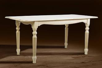 Стол раскладной Венеция 120х80 слоновая кость с патиной
