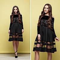 Женское праздничное  платье юбка-клеш