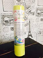 Салфетки универсальные в рулоне 30*20 см 50шт желтые Beauty вискоза+полиэстер с перфорацией