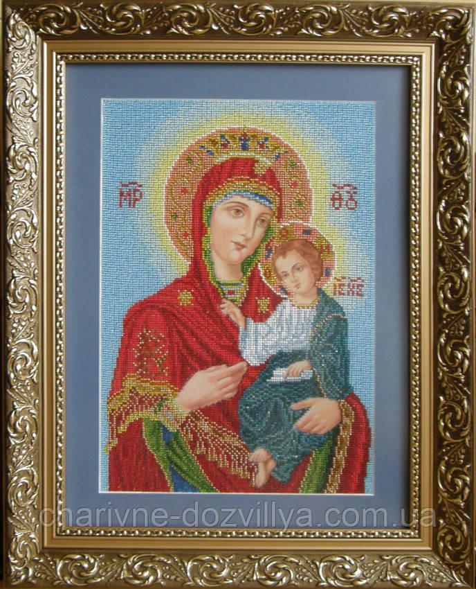"""Схема для вышивки бисером икона """"Богородиця - Одигітрія"""" (Вінчальна пара мала)"""