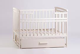 Кровать-трансформер с ящиком цвет ваниль от производителя Дитячий сон в детскую комнату