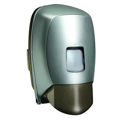 Дозатор диспенсер жидкого мыла шампуня 500 мл оливка пластик нажимной настенный ударопрочный, фото 2