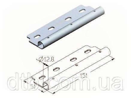 Накладка роликовая длинная нержавеющая RP122 - роликодержатель Alutech