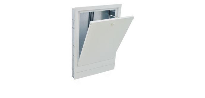 Коллекторный шкаф под штукатурку Compact DIY ширина 1030мм, с замком
