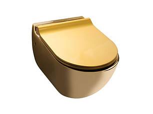 Унитаз подвесной NEWARC Modern (3823G) золото, фото 2