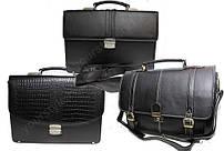 Портфели, дорожные сумки из натуральной кожи и кожзама.
