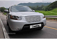 Решетка радиатора C-TYPE (ABS) - Hyundai Santa Fe CM (MORRIS), фото 2