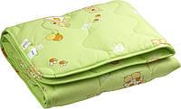 Одеяло детское шерстяное стеганое 140х105  см РУНО (320.02ШУ_Салатовый)