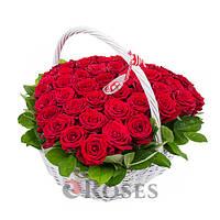 """Корзина """"Вечная Любовь"""" 45 красных роз"""