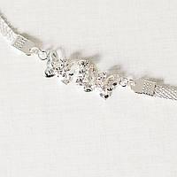 Браслет металлический с украшением бабочки