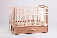 Кровать трансформер из натурального дерева с большим выдвижным ящиком для вещей от производителя Дитячий сон , фото 1